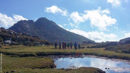 Itinéraire de randonnée en Corse, avec bivouac