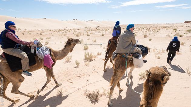 Itinéraire de randonnée dans le sud de la Tunisie