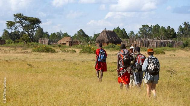 Sillonnez les sentiers de trek sur les terres de la tribu des Maasaïs