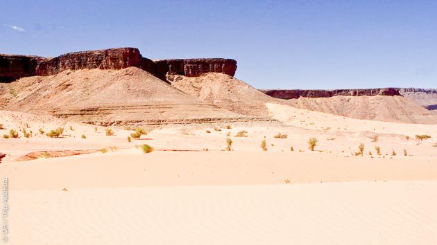 Un itinéraire qui vous emmène sur le plateau de l'Adrar et dans les monts Zarga, en Mauritanie