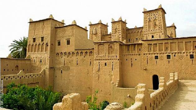 Des constructions fortifiées, vue sur la Vallée heureuse des Ait Bouguemez dans le haut Atlas au Maroc