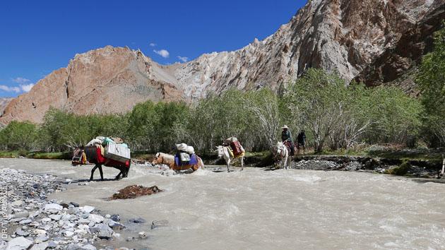 Des terrains variés à arpenter lors de ce trek : plateaux, lacs, et l'Himalaya à bout de bras