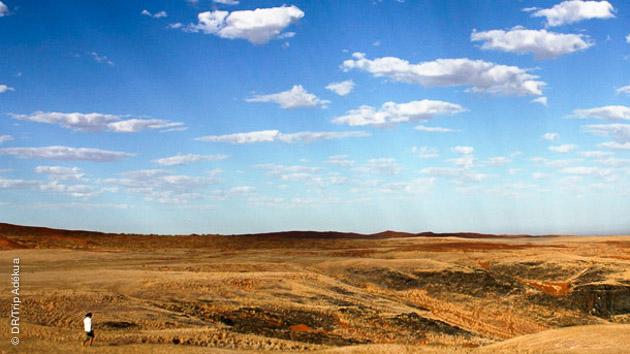 Un itinéraire trek entre plaines et paysages rocailleux de Namibie