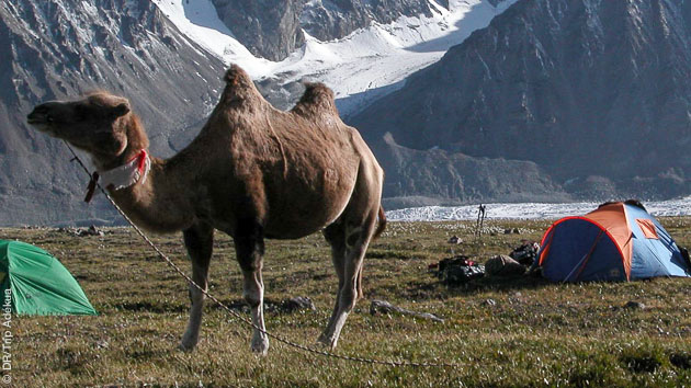 Massif du Kharkhira et sommets à plus de 4000m, vos panoramas majestueux pendant ce trekking en Mongolie