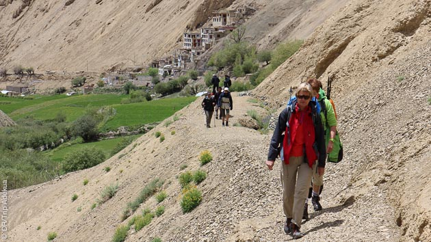 Randonnée pédestre itinérante sur les sentiers du Ladakh