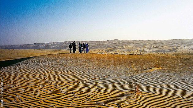 Une caravane chamelière dans le désert de Mauritanie