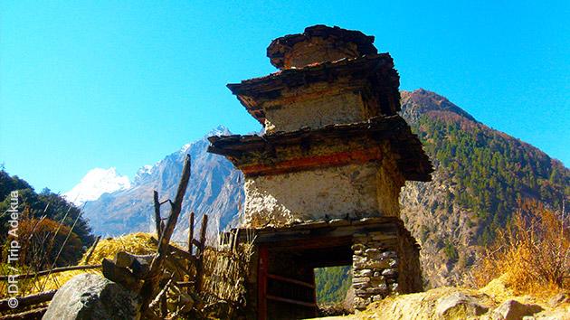 Paysages typiques que vous ne trouverez pas ailleurs qu'au Népal, en trekking