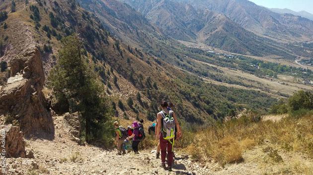 Circuit trekking avec guide dans le parc national d'Ougam-Tachtkal en Ouzbékistan