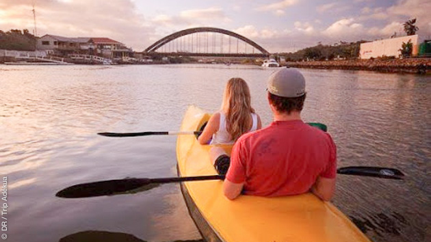 Exploration de la rivière Bushmans en kayak pendant votre trek
